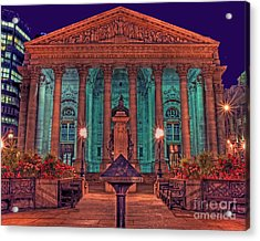 The Royal Exchange In The City London Acrylic Print by Chris Smith
