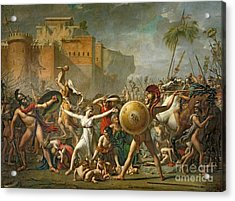The Sabine Women Acrylic Print by Jacques Louis David