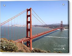 The San Francisco Golden Gate Bridge 7d14507 Acrylic Print by Wingsdomain Art and Photography