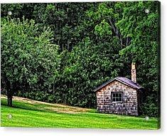 The Sauna By Sharon Cummings Acrylic Print by Sharon Cummings