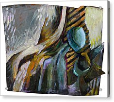 The Scarf The Glass And Caraffe Acrylic Print by Piotr Antonow