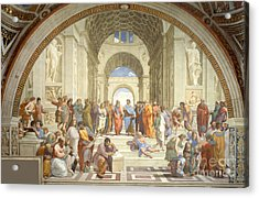 The School Of Athens, Raphael Acrylic Print by Science Source