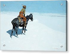 The Scout Friends Or Foes Acrylic Print by Frederic Remington