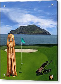 The Scream World Tour Golf  Acrylic Print by Eric Kempson