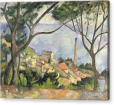 The Sea At L Estaque Acrylic Print by Paul Cezanne