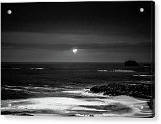 The Sea By Night Acrylic Print by Martina Fagan