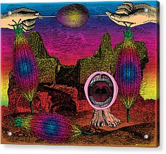 The Seed-pod Song Acrylic Print by Eric Edelman