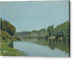 The Seine At Bougival Acrylic Print by Alfred Sisley