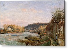 The Seine At Bougival Acrylic Print by Camille Pissarro