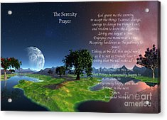 The Serenity Prayer Acrylic Print by Heinz G Mielke