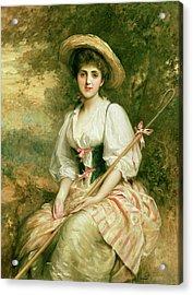 The Shepherdess Acrylic Print by Sir Samuel Luke Fildes