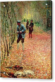 The Shoot Acrylic Print by Claude Monet