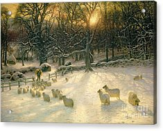 The Shortening Winters Day Is Near A Close Acrylic Print by Joseph Farquharson