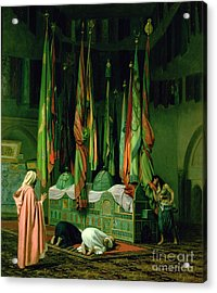 The Shrine Of Imam Hussein Acrylic Print by Jean Leon Gerome
