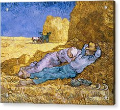 The Siesta Acrylic Print by Vincent Van Gogh
