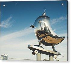 The Skater Bird Acrylic Print by Sonja Quintero