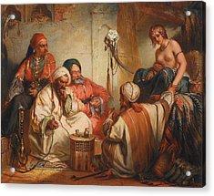 The Slave Market Acrylic Print by Jean Francois Portaels