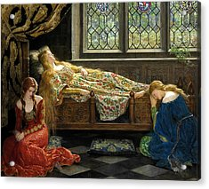 The Sleeping Beauty  Acrylic Print by John Collier