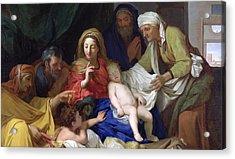 The Sleeping Christ Acrylic Print by Charles Le Brun