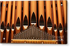 The Small Wall Organ Pipes.   # Acrylic Print by Rob Luzier