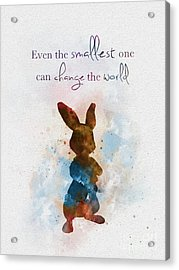 The Smallest One Acrylic Print by Rebecca Jenkins