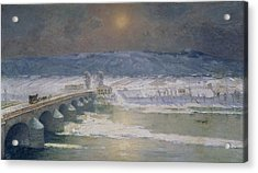 The Snow In The Auvergne Acrylic Print by Albert Charles Lebourg