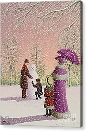 The Snowman Acrylic Print by Peter Szumowski