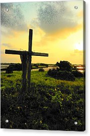The Son And Sunset Acrylic Print by Sheri McLeroy