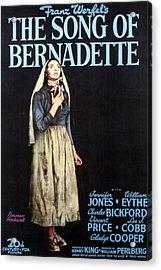 The Song Of Bernadette, Jennifer Jones Acrylic Print by Everett
