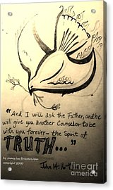 The Spirit Of Truth Acrylic Print by Jamey Balester