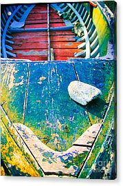 The Stone Acrylic Print by Silvia Ganora