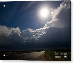 The Straight Way To The Storm Acrylic Print by Arik Baltinester