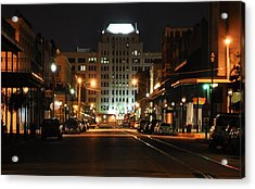 The Strand At Night Acrylic Print by John Collins