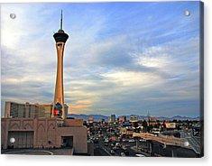 The Stratosphere In Las Vegas Acrylic Print by Susanne Van Hulst