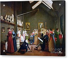 The Studio Of Abel De Pujol Acrylic Print by MotionAge Designs
