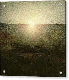 The Sun Acrylic Print by Giuseppe Pellizza da Volpedo