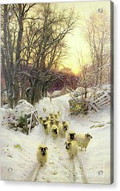 The Sun Had Closed The Winter's Day  Acrylic Print by Joseph Farquharson