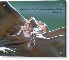 The Sun Rose A Ribbon Acrylic Print by Barbara St Jean