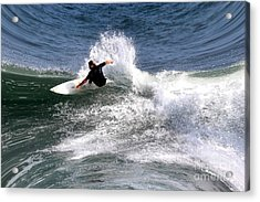The Surfer Acrylic Print by Tom Prendergast