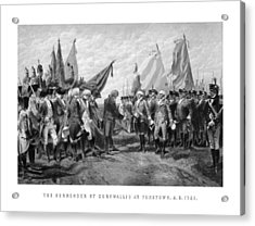 The Surrender Of Cornwallis At Yorktown Acrylic Print by War Is Hell Store