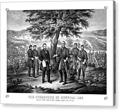 The Surrender Of General Lee  Acrylic Print by War Is Hell Store