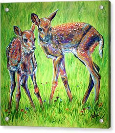 The Sweet Life Acrylic Print by Teshia Art
