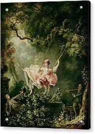 The Swing  Acrylic Print by Jean-Honore Fragonard