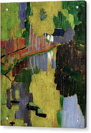 The Talisman Or The Swallowhole In The Bois Damour Pont Aven Acrylic Print by Paul Serusier