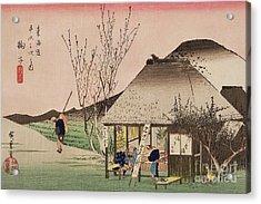 The Teahouse At Mariko Acrylic Print by Hiroshige