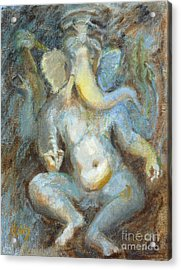 The Temple Of Love Ganesh Acrylic Print by Ann Radley