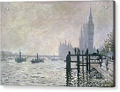 The Thames Below Westminster Acrylic Print by Claude Monet