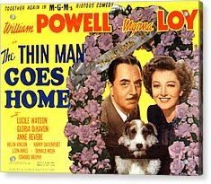 The Thin Man Goes Home, William Powell Acrylic Print by Everett
