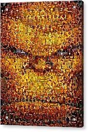 The Thing Mosaic Acrylic Print by Paul Van Scott
