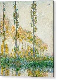 The Three Trees Acrylic Print by Claude Monet